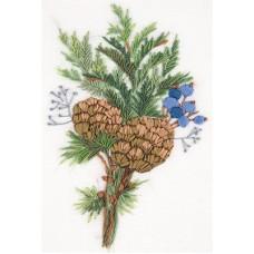 Набор для вышивания PANNA Живая картина  ЖК-2138 Обаяние зимы 11х16 см