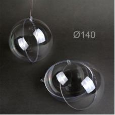 Шар пластиковый прозрачный половинками MAGIC 4 HOBBY Ø140 мм