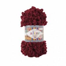 Пряжа для вязания Ализе Puffy Fine (100% микрополиэстер) 5х100г/14м цв.107 вишня