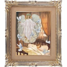 Набор для вышивания мулине КРАСА И ТВОРЧЕСТВО 40911 Ангел сна 32,9х41,7 см
