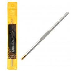 Крючки для вязания Maxwell односторонние с золотой головкой MAXW.7306, никель 3,5мм, 12 см