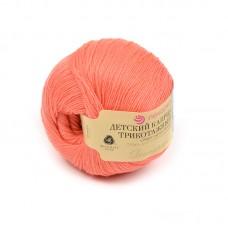 Пряжа для вязания ПЕХ Детский каприз трикотажный (50% мериносовая шерсть, 50% фибра) 5х50г/400м цв.351 св.коралл