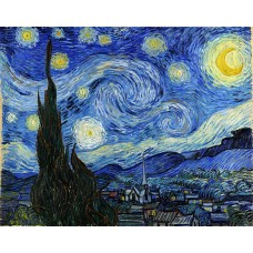 Алмазная мозаика на холсте ГРАННИ Ag2215 Звездная ночь 48х38см