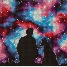 Набор для вышивания PANNA  KS-7250 Лучшие друзья во Вселенной 14,5х14,5 см
