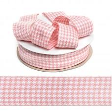 Тесьма TBY декоративная Гусиные лапки DT0344 шир.40мм цв.04 розовый уп.22,9м