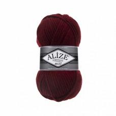 Пряжа для вязания Ализе Superlana maxi (25% шерсть, 75% акрил) 5х100г/100м цв.057 бордовый