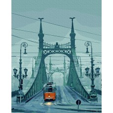 Картины по номерам Molly KH0935 Будапешт. Мост свободы (21 цвет) 40х50 см