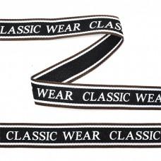 Тесьма-стропа TBY декоративная Classic wear TPP03201 шир.20мм цв. черный уп.45,7м