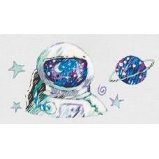 Набор для вышивания PANNA Живая картина  JK-2209 Космонавт 6,5х4,5см