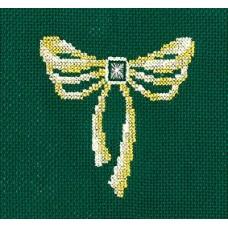 Набор для вышивания Сделай своими руками ССР.З-30 Золотые украшения.Бант 12х12 см