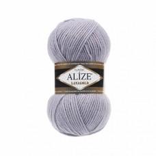 Пряжа для вязания Ализе LanaGold (49% шерсть, 51% акрил) 5х100г/240м цв.200 серый