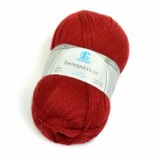 Пряжа для вязания КАМТ Белорусская (50% шерсть, 50% акрил) 5х100г/300м цв.091 вишня
