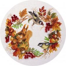 Набор для вышивания PANNA ПС-1615 Осенний венок 24,5х26,5 см