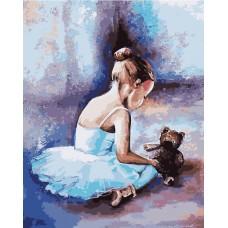 Рисование по номерам Балерина. Первые шаги MG2056 40х50 тм Цветной