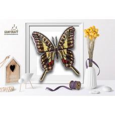 Набор для вышивки бисером 3-D БЛАГОВЕСТ Б-022 Бабочка Protographium Philolaus 12х14 см