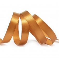 Лента атласная 1/2 (12мм) цв.3128 т.золото IDEAL уп.27,4 м