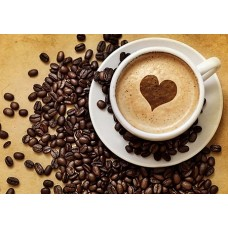Алмазная мозаика на холсте ГРАННИ Ag225 Кофе для нее 30х20см