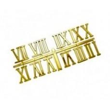 Цифры римские КЛ.23732 малые, пластик, цв.золото 18мм