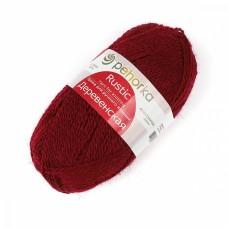 Пряжа для вязания ПЕХ Деревенская (100% полугрубая шерсть) 10х100г/250м цв.007 бордо