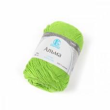 Пряжа для вязания КАМТ Альма (100% хлопок) 5х50г/170м цв.026 салат