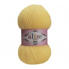 Пряжа для вязания Ализе Extra Life (100% акрил) 5х100г/480м цв.913 св.лимон