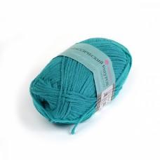 Пряжа для вязания ПЕХ Классический шнурок (60% хлопок, 40% акрил) 5х50г/135м цв.515 зелёная бирюза