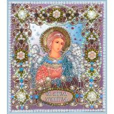 Набор для вышивания хрустальными бусинами ОБРАЗА В КАМЕНЬЯХ  7710 Ангел Хранитель 14,5х16,6 см