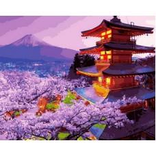 Картины по номерам Пагода GX30099 40х50 тм Цветной
