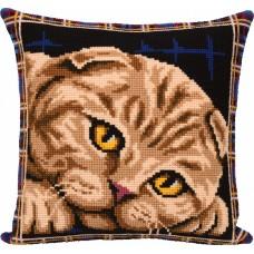 Набор для вышивания PANNA  PD-7123 Подушка. Шотландская кошка 40х40 см