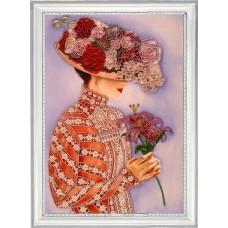 Набор для вышивания BUTTERFLY  822 Дама с лилиями 36х26 см