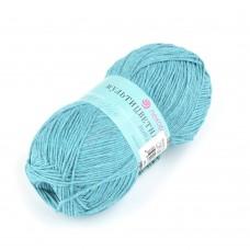 Пряжа для вязания ПЕХ Мультицветная (65% полиэстер, 35% хлопок) 5х50г/180м цв.1152 зелёная бирюза