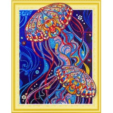 Набор Колор Кит картина алмазная с фигурными стразами КК.FKU009 Сокровища океана 40х50