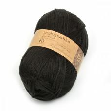 Пряжа для вязания ПЕХ Молодёжная (91% акрил высокообъемный, 9% полиамид) 5х200г/280м цв.002 черный