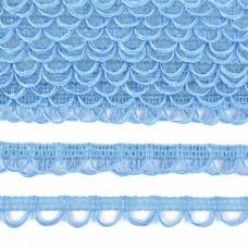 Тесьма отделочная UU цв.177 св.голубой шир.18-19мм уп.16,45м