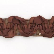 Тесьма с пайетками TBY TH463-1 шир.25мм цв.032 коричневый уп.18,28м