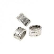 Бусины металлические TESОRO TS-4808 цв.античное серебро уп.2шт 8х15 мм