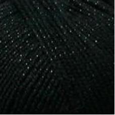 Пряжа для вязания ПЕХ Мерцающая (96% акрил, 4% метанит) 5х100г/430м цв.002 черный