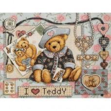 Набор для вышивания Classic Design 4350 Я люблю Тедди 36х29 см