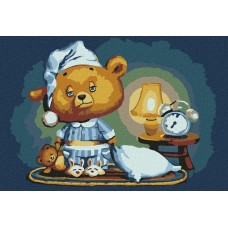Набор юного художника Molly KHM0081 Сонный медвежонок 20х30 см