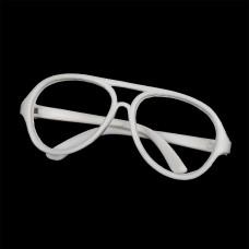 Очки без стекла TBY.53731 цв.белый 7см, круглые пластик уп.10шт