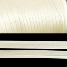 Косая бейка TBY атласная шир.15мм цв.F102 молочный уп.132 м