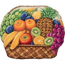 Набор для вышивания PANNA  ПД-7051 Подушка Фруктовое лукошко 41,5х33,5 см