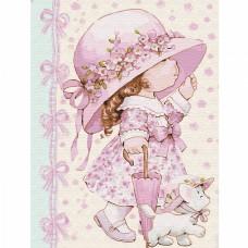 Картина по номерам с цветной схемой на холсте Molly KK0646 Маленькая модница (20 цветов) 30х40 см