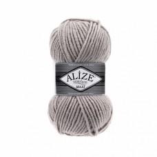 Пряжа для вязания Ализе Superlana maxi (25% шерсть, 75% акрил) 5х100г/100м цв.652 пепельный