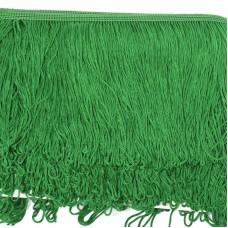 Бахрома шелковая FD-15 шир.15см цв.118 т.зеленый уп.10м