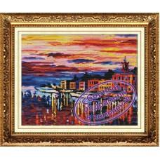 Набор Колор Кит  мозаичная картина с подрамником КК.MO031 Ночные блики  40х50