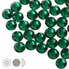 Стразы холодной фиксации Xirius 8+8 граней SS16 (3,8-4,0 мм) NH16-10 цв.Emerald, уп.100шт
