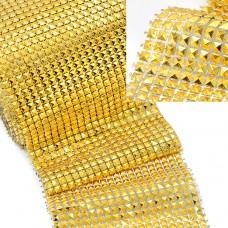 Стразы на бобине  TBYP-02 5x5мм шир.12 см цв.золото уп. 9,14