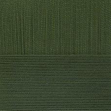 Пряжа для вязания ПЕХ Мерцающая (96% акрил, 4% метанит) 5х100г/430м цв.013 т.оливковый