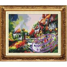 Набор Колор Кит  мозаичная картина с подрамником КК.MO034 Фонтан у дома  40х50